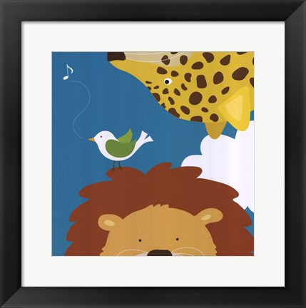 Framed Safari Group: Leopard and Lion Print