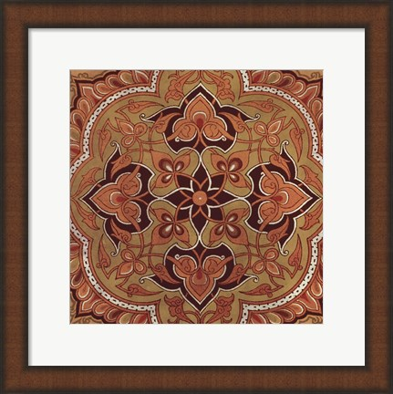 Framed Persian Tiles II Print