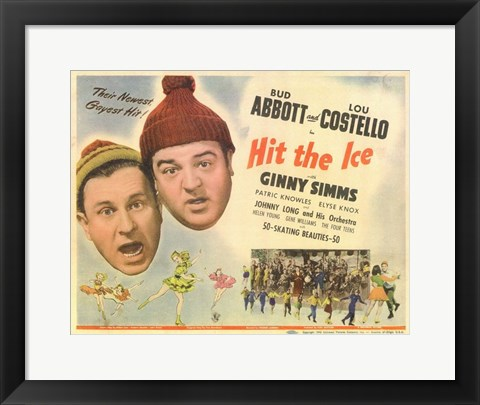 Framed Abbott and Costello, Hit the Ice, c.1943 Print