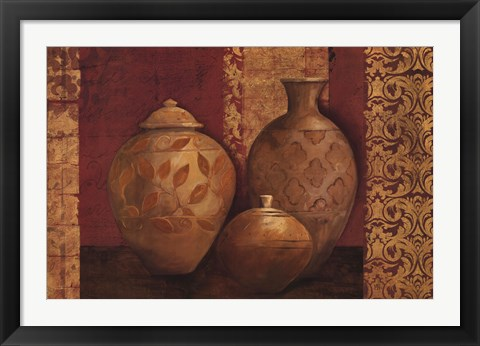 Framed Agean Vessels on Spice Print