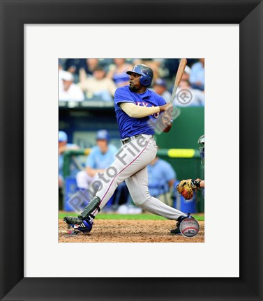 Framed Vladimir Guerrero 2010 Batting Print