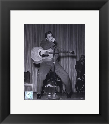 Framed Elvis Presley Singing and Dancing (#7) Print