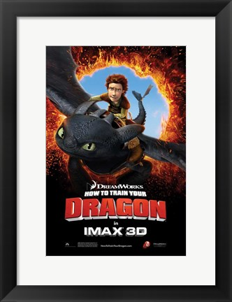 Framed How to Train Your Dragon - Style H Print