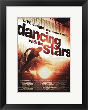 Framed Dancing with the Stars Live Print