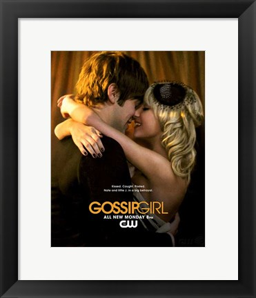 Framed Gossip Girl Nate and Little J in a big Betrayal Print