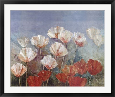 Framed Blushing Poppies Print