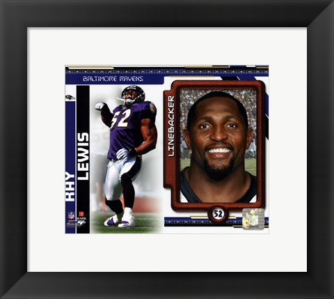 Framed Ray Lewis 2010 Studio Plus Print