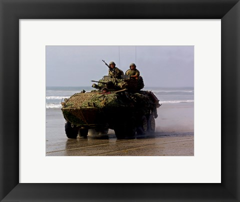 Framed LAV-25 Light Armored Vehicle United States Marine Corps Print