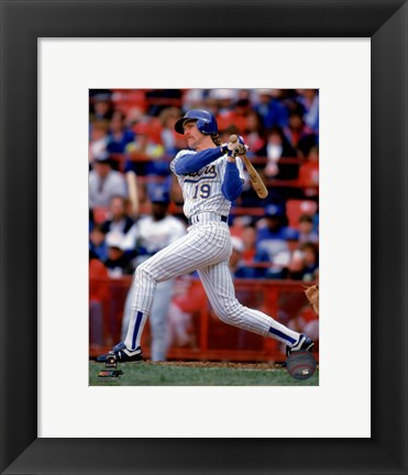 Framed Robin Yount 1992 Action Print