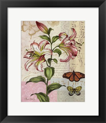 Framed Oripet Lily Collage Print