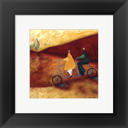 Framed Rolling Home Together Print
