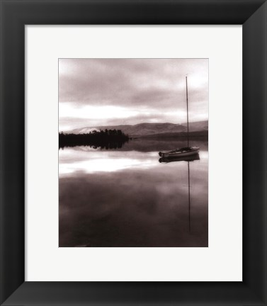 Framed Serenity Lake I Print