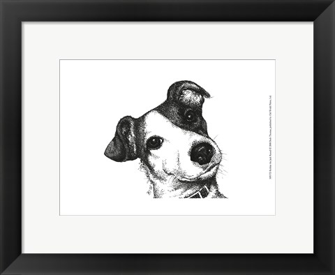 Framed Robbie the Jack Russell Print