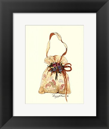 Framed Floral Purse Print