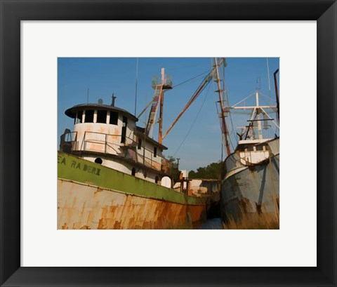Framed Small Safe Harbor IV Print