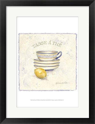 Framed French Pottery III Print
