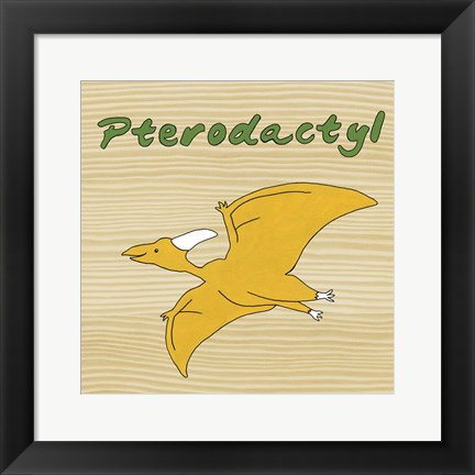 Framed Pterodactyl Print