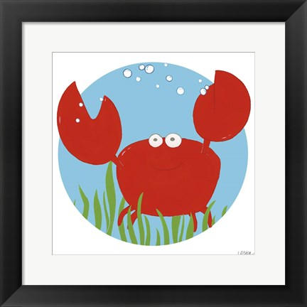 Framed Calvin the Crab Print