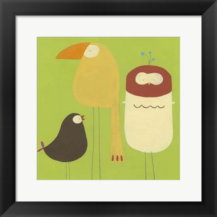 Framed Feathered Friends I Print
