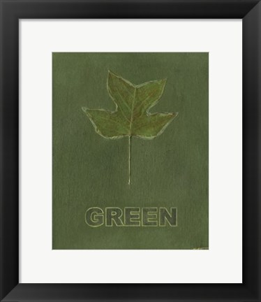 Framed Going Green IV Print