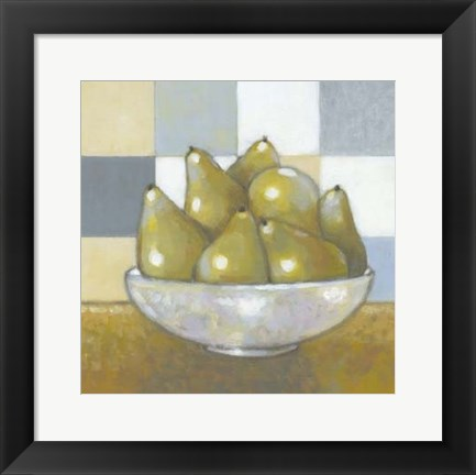Framed Green Pears Print