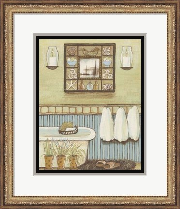 Framed Seabreeze Bath II Print