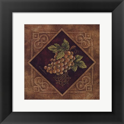 Framed Golden Grapes Print