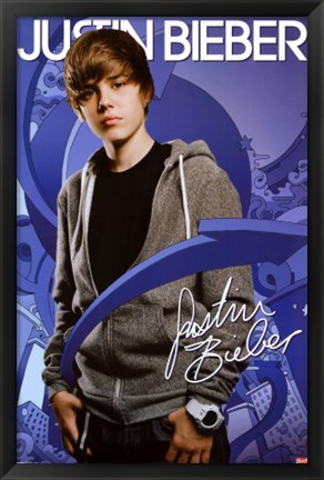 Framed Justin Bieber - Arrows Print