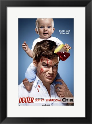 Framed Dexter with Baby Print