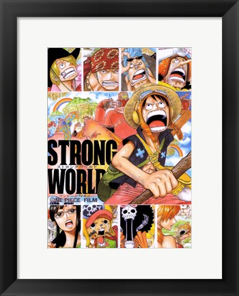 Framed One Piece Film: Strong World Print