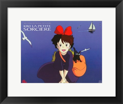 Framed Kiki's Delivery Service (French Title) Cartoon Print