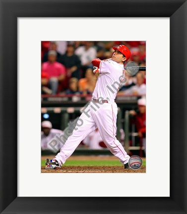 Framed Joey Votto 2010 Action Print