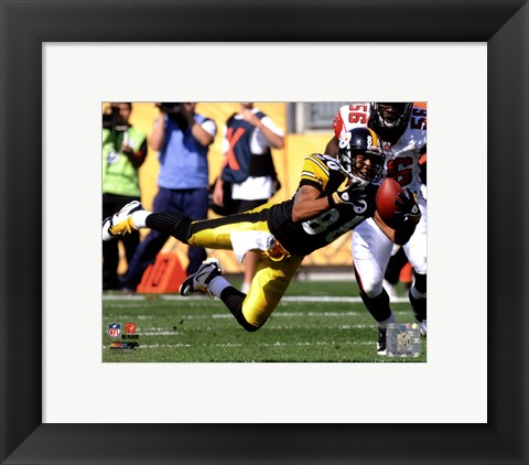 Framed Hines Ward 2010 Action Print