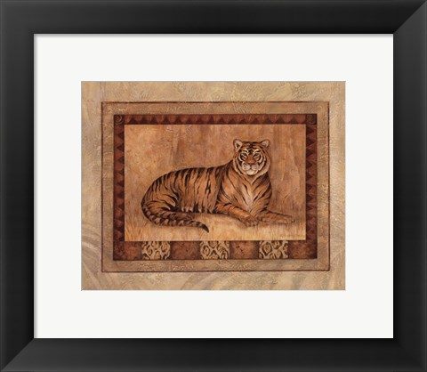 Framed Tiger - mini Print