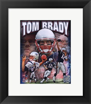 Framed Tom Brady 2010 Portrait Plus Print
