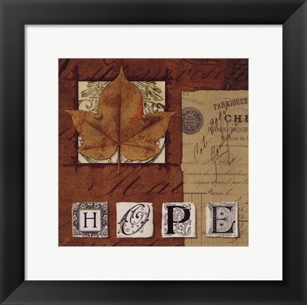 Framed Natures Journal - Hope Print