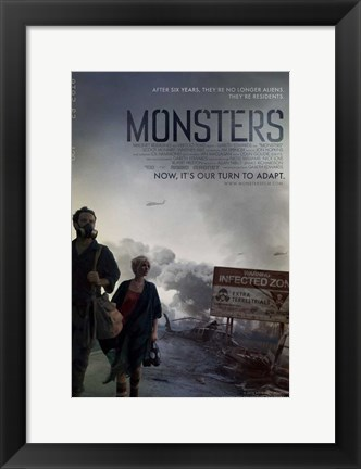 Framed Monsters Print
