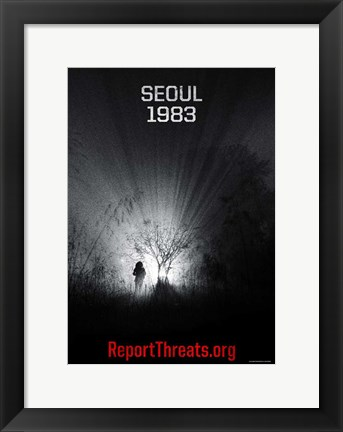 Framed Battle: Los Angeles - Seoul 1983 Print