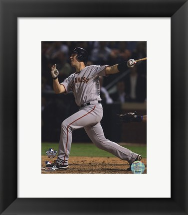 Framed Buster Posey Game Four of the 2010 World Series Home Run Print