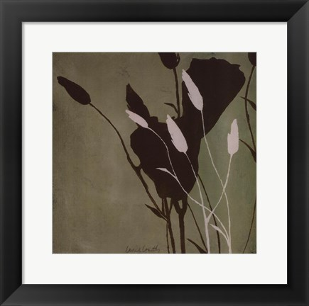 Framed Fleur'ting Silhouettes III Print