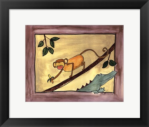 Framed Brown Monkey Print
