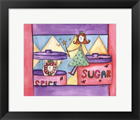 Framed Sugar and Spice Print