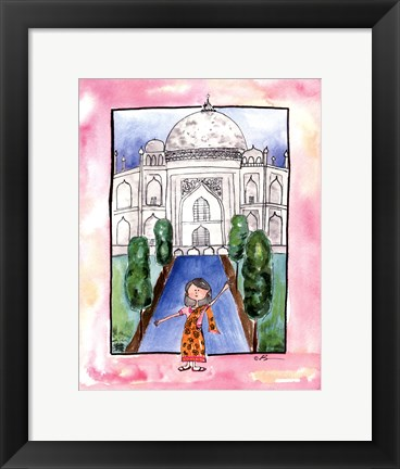 Framed Girl in India Print
