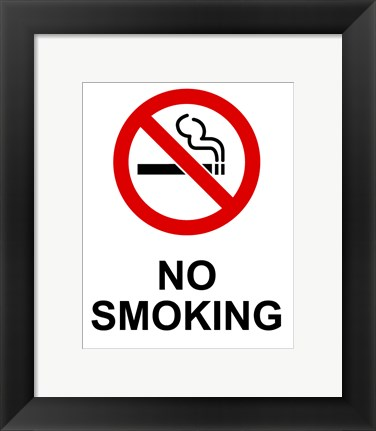Framed No Smoking - Small Print