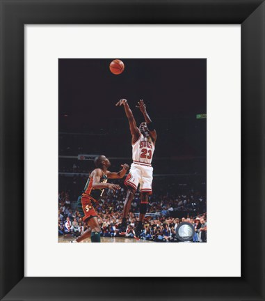 Framed Michael Jordan Game 6 of the 1996 NBA Finals Action Print