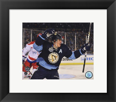 Framed Evgeni Malkin 2011 NHL Winter Classic Action Print