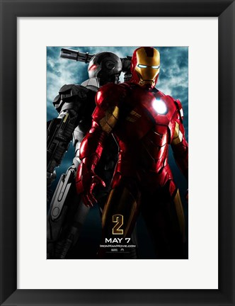 Framed Iron Man 2 Gray Armor Print