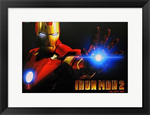 Framed Iron Man 2 Close Up Print