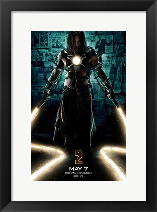 Framed Iron Man 2 Laser Whips Print