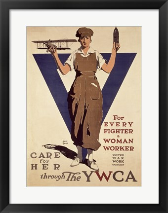 Framed For Every Fighter a Woman Worker YWCA Print